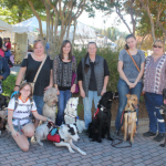 Paws for Life| Animals Deserve Better Service Dog Training- Group Shot of Service Dogs and their handlers 2015