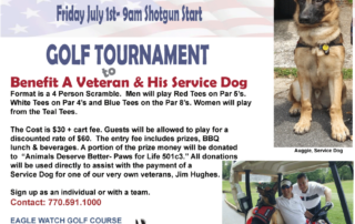 Paws for Life Golf Tournament to help raise funds for Veteran & his Service Dog