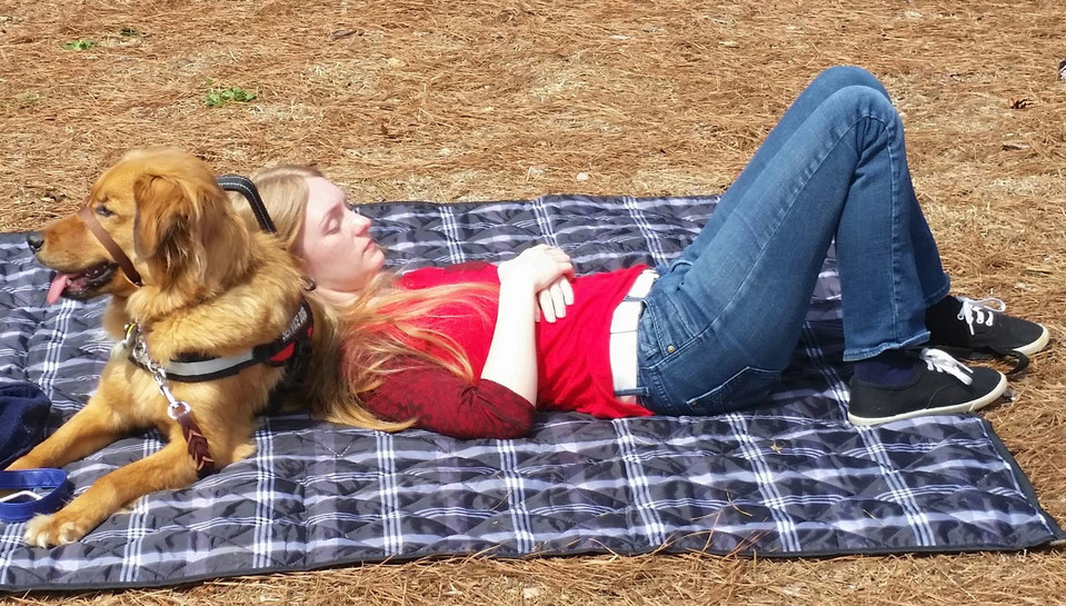Paws for Life Service Dog Training Atlanta Georgia Working on Relaxation