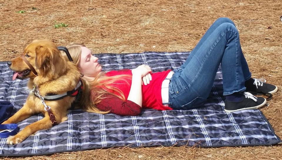 Paws for Life Service Dog Training Atlanta Georgia Working on Relaxation