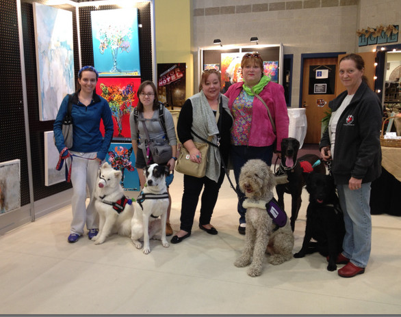 Paws for Life Service Dog Training at an Art Festival