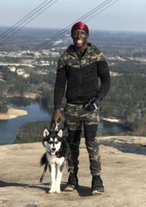 Paws for LIfe is so Proud of Jaylen a National Guard and His Service Dog Shadow